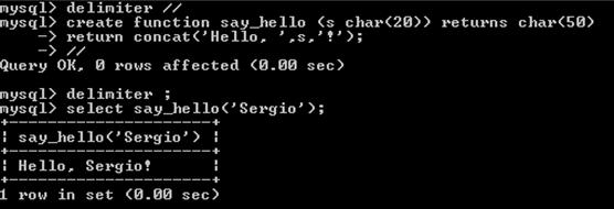 Ejemplo de función que muestra un texto simple.