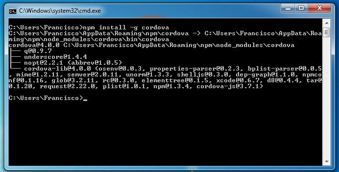 Imagen 17 en Instalación de Phonegap en Windows