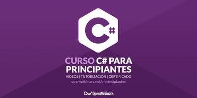 Curso de C# para principiantes