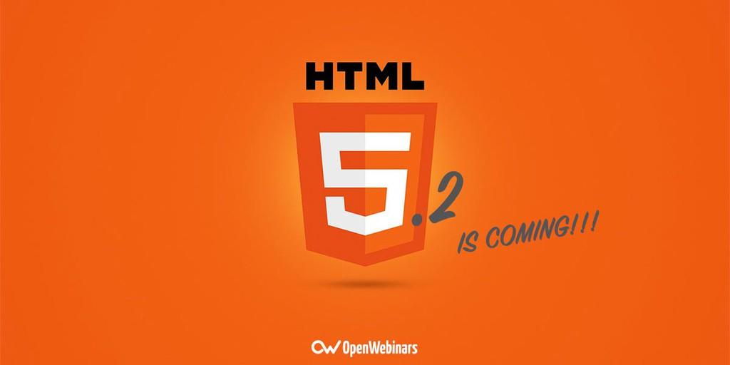Primeras novedades de HTML 5.2