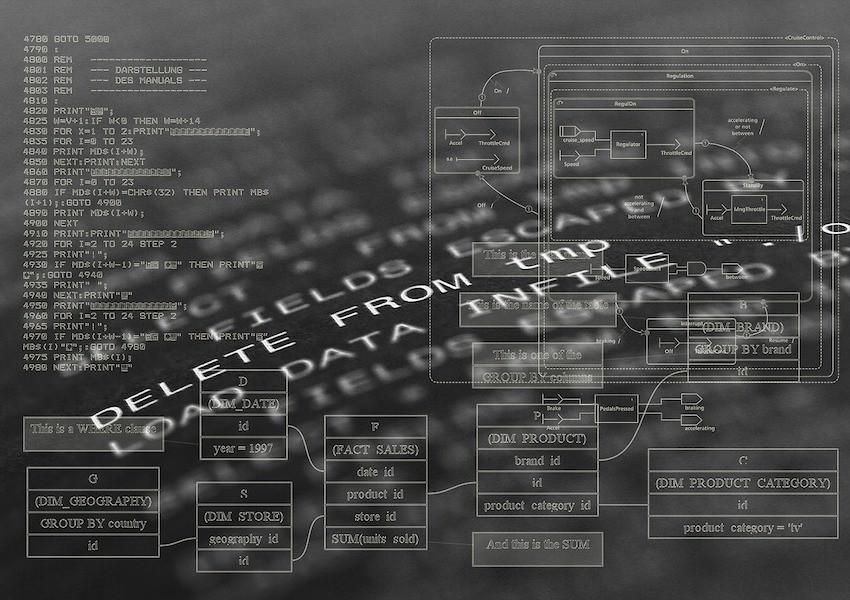 Imagen creativa de código de programación