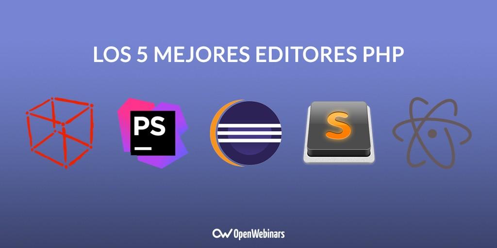 Los 5 mejores editores PHP