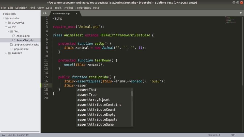 Imagen 3 en Cómo ejecutar pruebas PHPUnit con Sublime Text