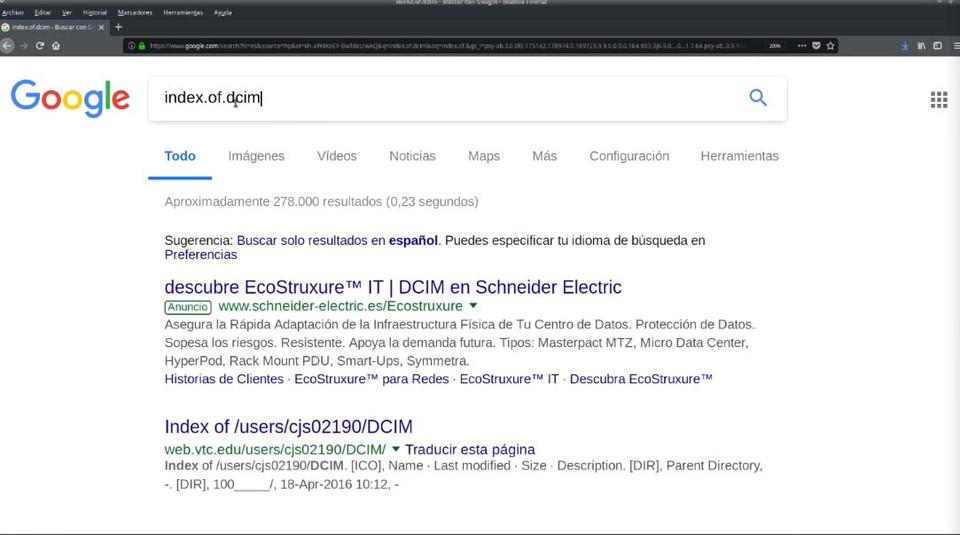 Ejemplo búsqueda DCIM
