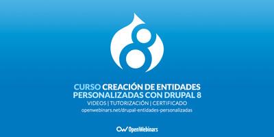 Curso de creación de entidades personalizadas con Drupal 8