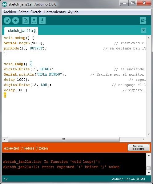 Imagen 5 en Tutorial Arduino: Ejemplo Semáforo