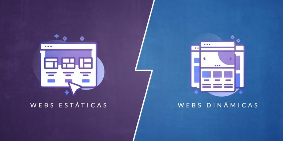 Páginas web estáticas vs páginas web dinámicas
