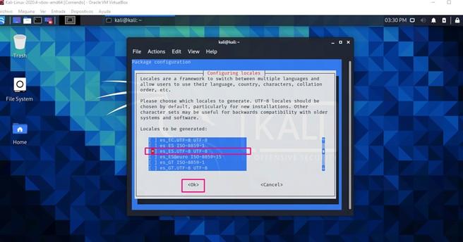 Cambio de idioma en Kali Linux tercera parte