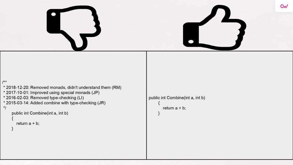 Imagen 3 en Comentarios en el código: sí o no- Refactoring & Clean Code
