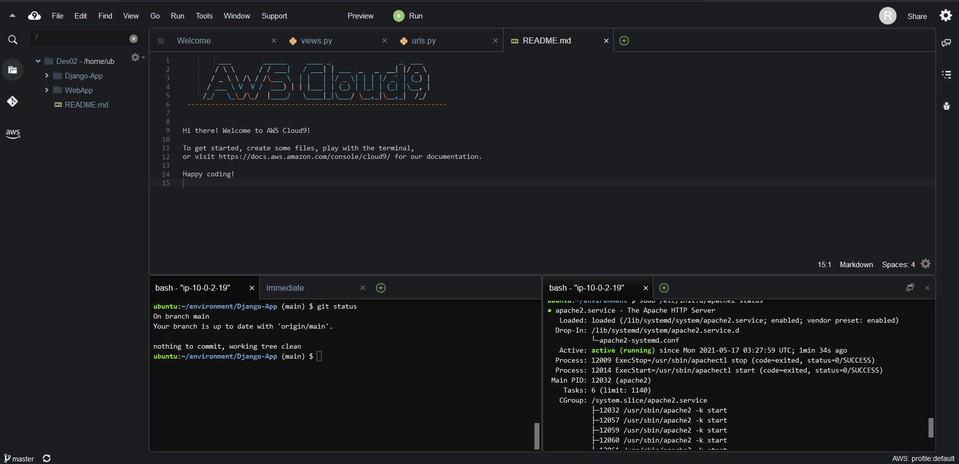 Entorno AWS Cloud9