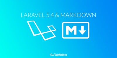 Laravel 5.4 incorpora Markdown