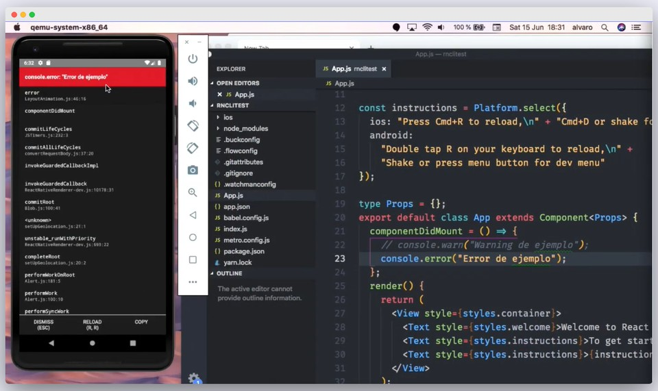 Imagen 2 en Herramientas de desarrollo para React Native