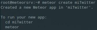 crear proyecto meteor js