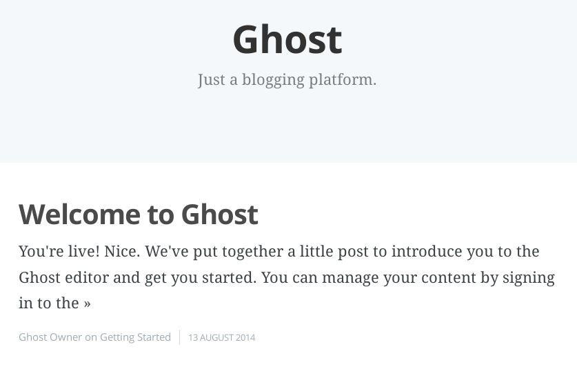 Imagen 1 en Instalación de Ghost en 5 minutos