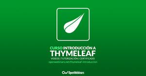 Curso de Introducción a Thymeleaf
