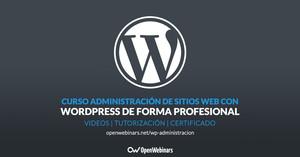 Curso administración de sitios Web con WordPress de forma profesional