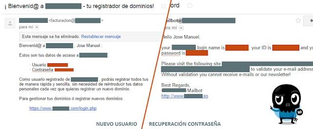contrasñeas en claro email