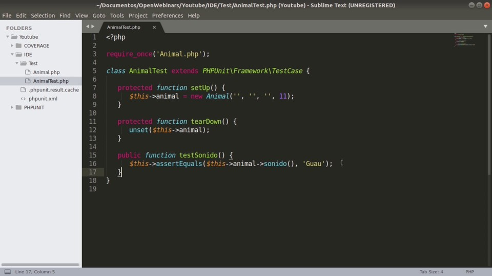 Imagen 0 en Cómo ejecutar pruebas PHPUnit con Sublime Text