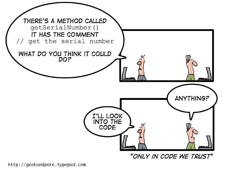 Imagen 0 en Comentarios en el código: sí o no- Refactoring & Clean Code