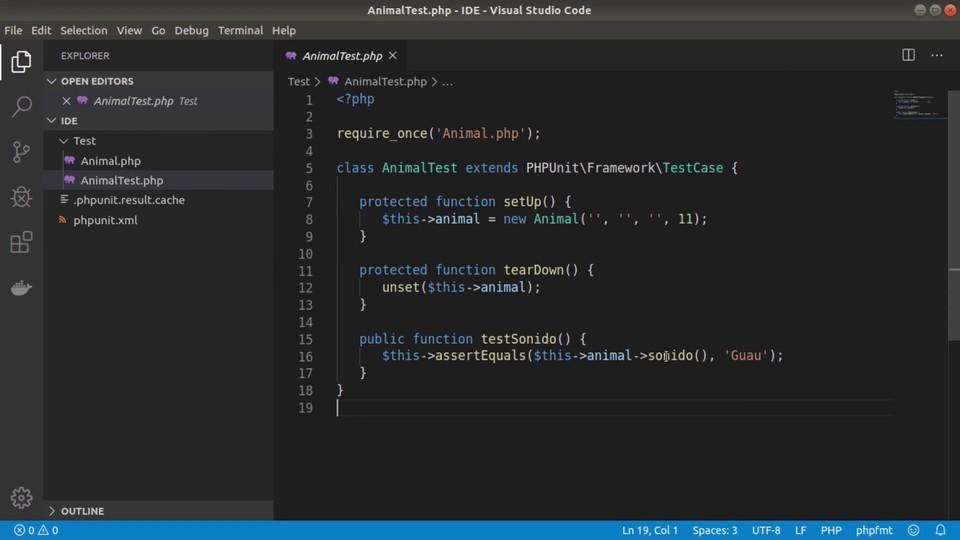 Imagen 0 en Cómo ejecutar pruebas PHPUnit con Visual Studio Code