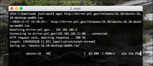 Imagen 1 en Wget, descargas desde línea de comandos