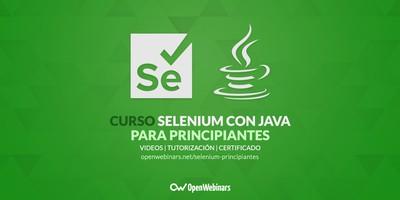 Curso de Selenium con Java para principiantes