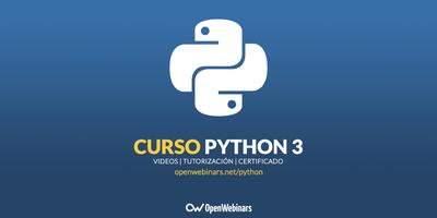 Curso de Python: Aprende a programar en Python 3