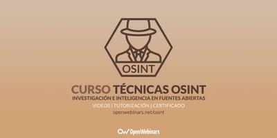 Curso OSINT: Técnicas de investigación e inteligencia en fuentes abiertas