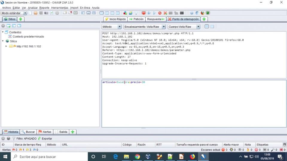 Imagen 6 en Realizar un ataque Parameter Tampering