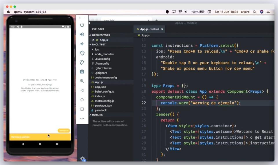 Imagen 0 en Herramientas de desarrollo para React Native