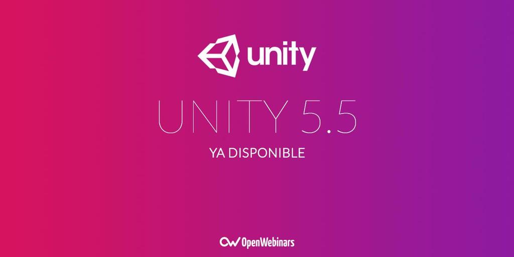 Unity 5.5 ya está disponible