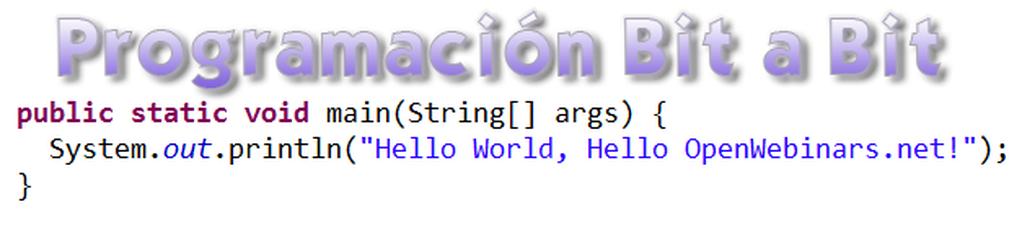 Programación bit a bit: Hello World!