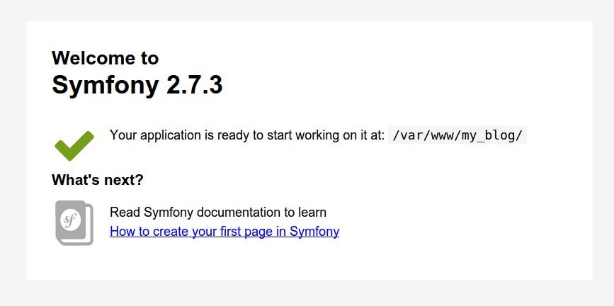 Imagen 3 en Symfony2 Tutorial: Introducción, instalación y configuración