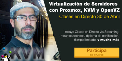 Nueva edición de curso de Virtualización con Proxmox