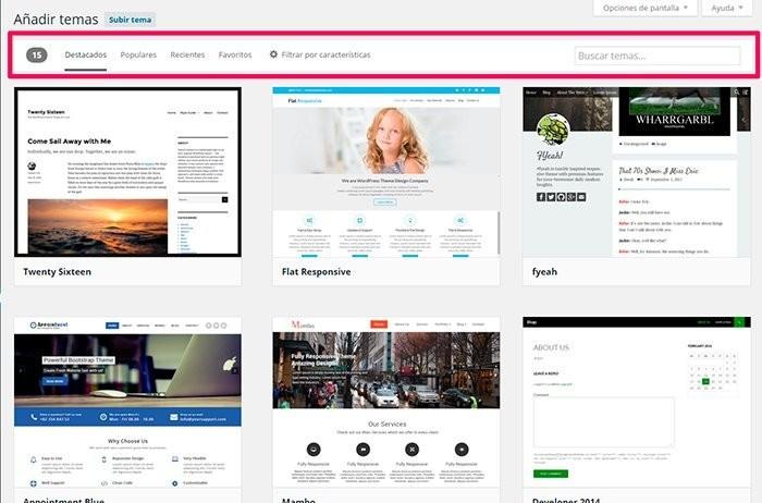 Imagen 2 en WordPress Tutorial: Instalar themes