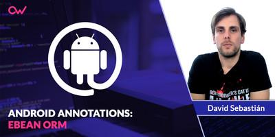 Android Annotatios: Ebean ORM