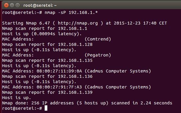 Imagen 13 en Nmap, uso básico para rastreo de puertos