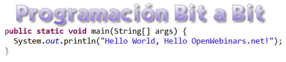 Programación bit a bit: Hello World!