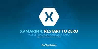 Xamarin 4: Restart to zero