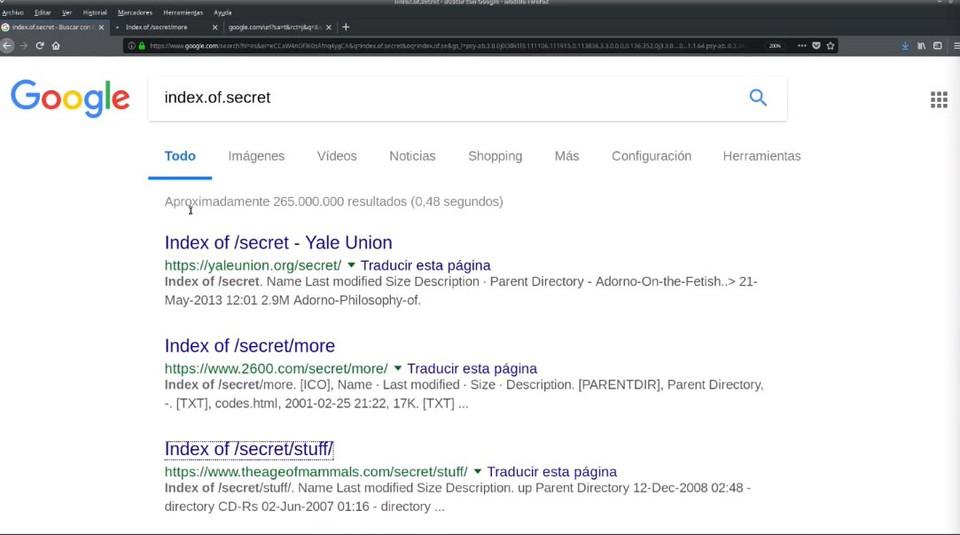Ejemplo búsqueda Secret