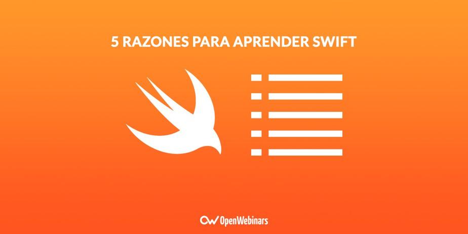 5 razones para aprender Swift 3