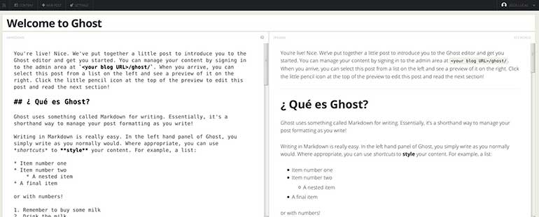 Imagen 0 en Instalación de Ghost en 5 minutos