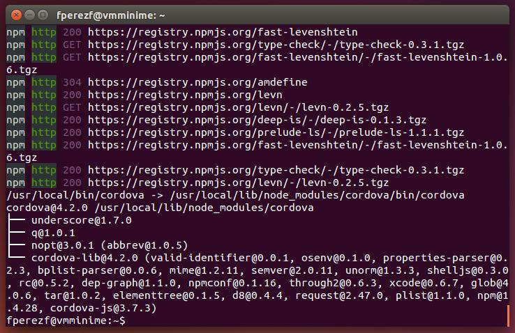 Imagen 19 en Instalación de Phonegap en Linux