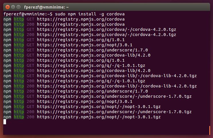 Imagen 18 en Instalación de Phonegap en Linux