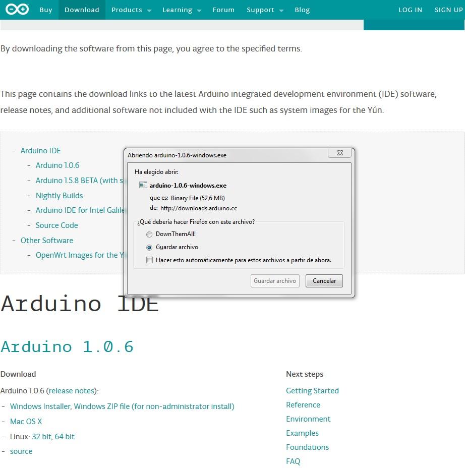 Imagen 1 en Tutorial Arduino: IDE Arduino