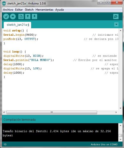 Imagen 4 en Tutorial Arduino: Ejemplo Semáforo
