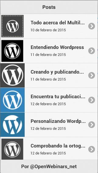 Imagen 2 en Desarrollo de App PhoneGap con Backend WordPress