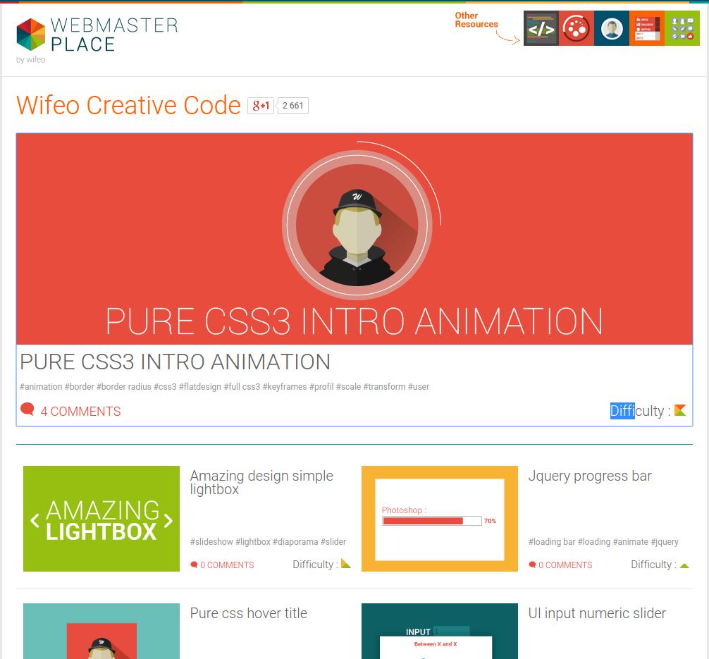 Imagen 0 en Recursos gratis para webmasters y trucos en CSS3 y jQuery