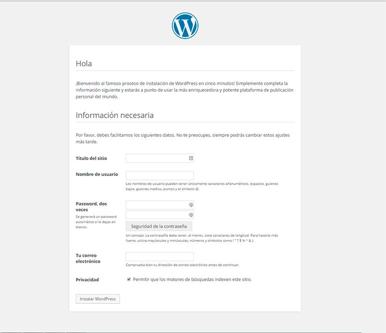 Imagen 3 en WordPress tutorial: Cómo instalar WordPress