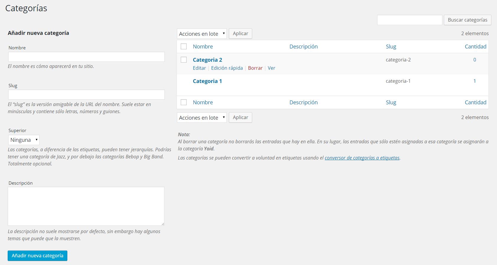 Imagen 1 en WordPress tutorial: Escribir entradas